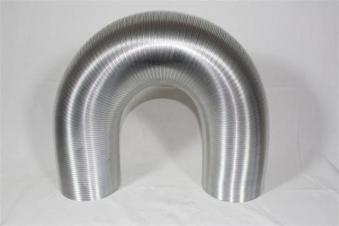 Flexibles Lüftungsrohr aus Aluminium Ø50mm Bild 1