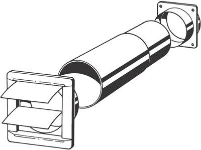 Mauerdurchführung Teleskopkanal weiß Ø 100 mm Bild 2