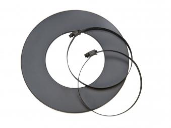 Rosette für flexibles Lüftungsrohr Ø80mm grau Bild 1