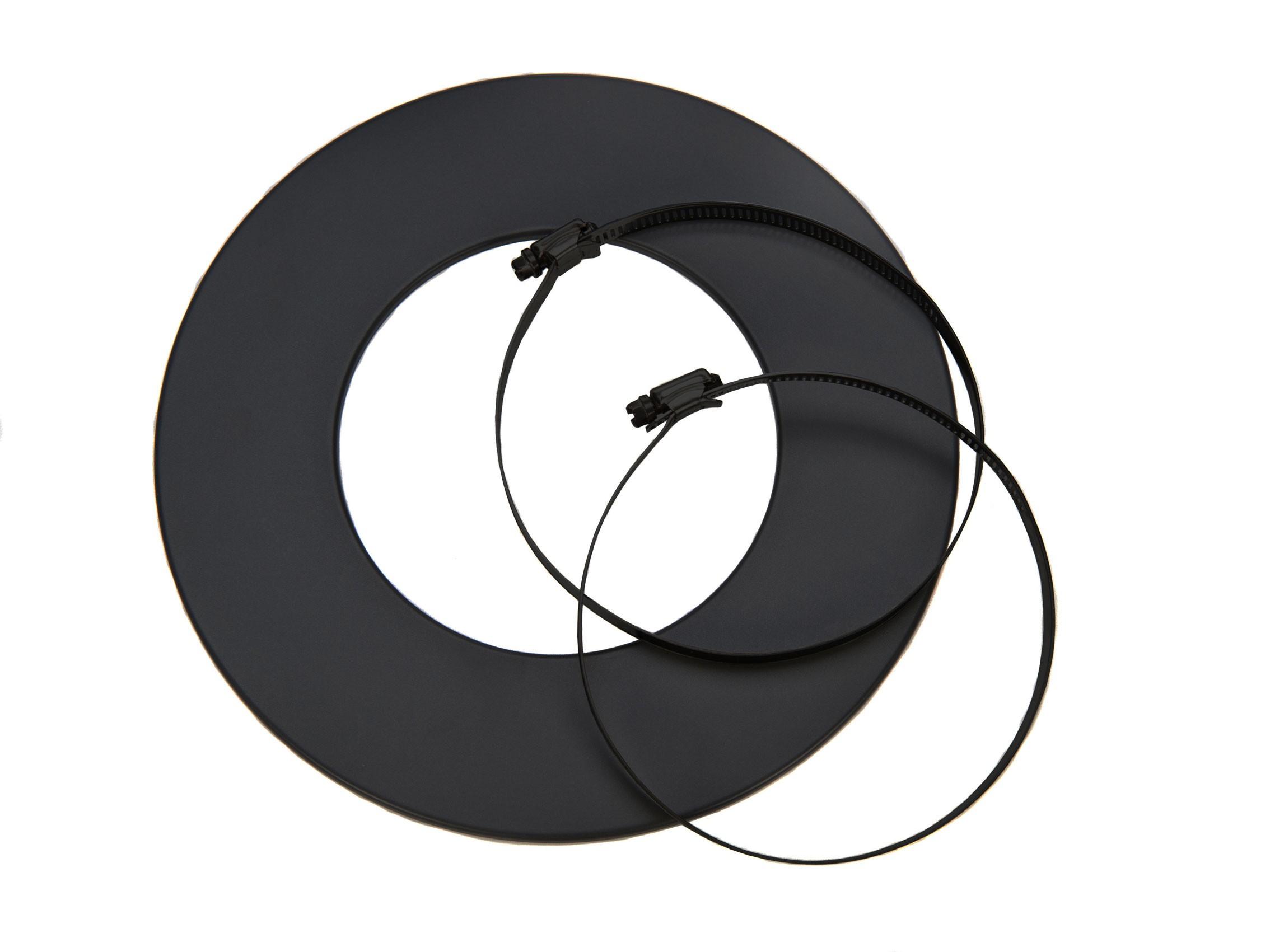 Rosette für flexibles Lüftungsrohr Ø80mm schwarz Bild 1