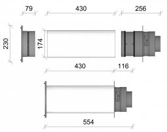 externer Luftanschluss Mauerdurchführung Doppelklappe 100mm Stutzen Bild 2
