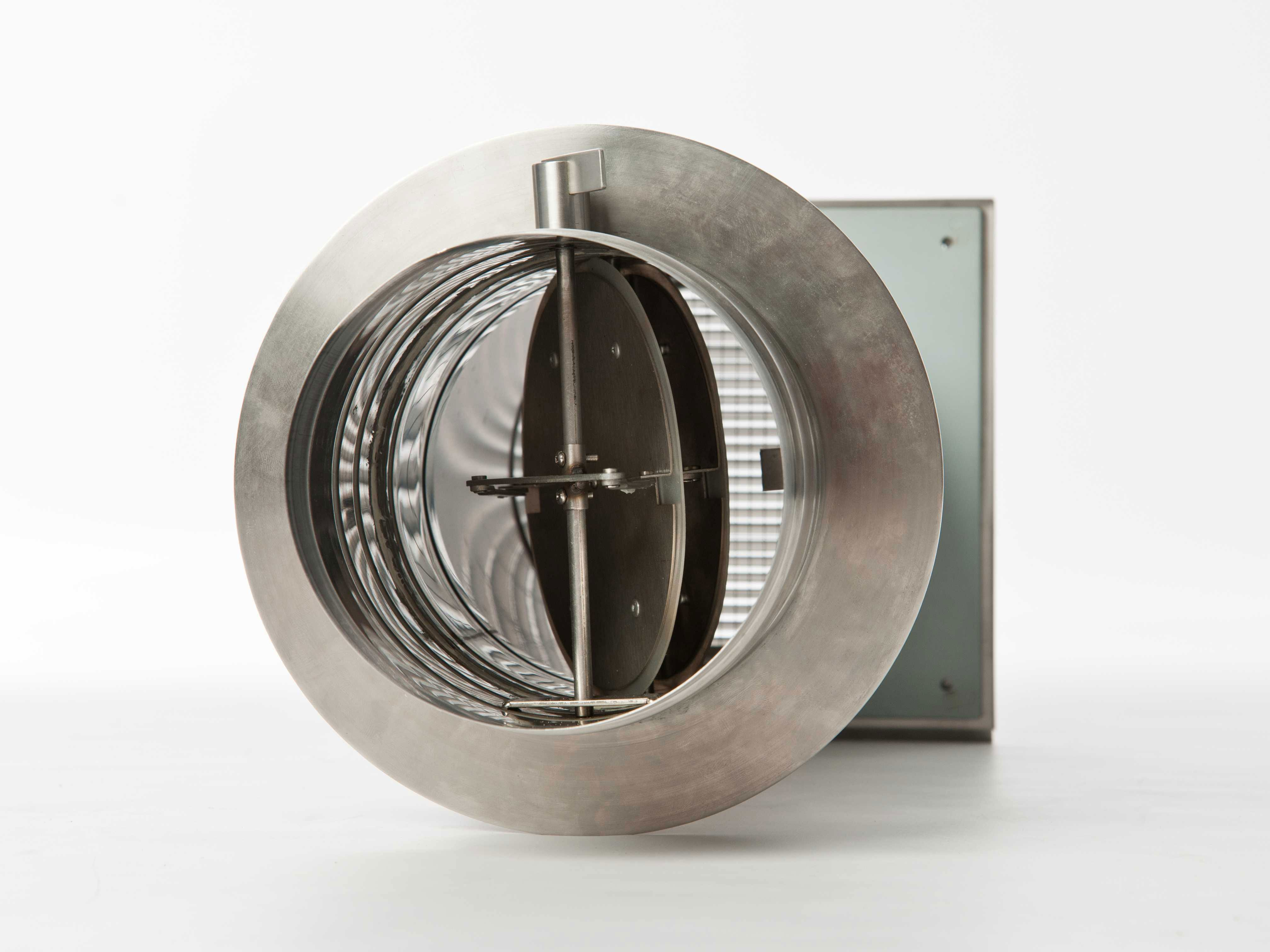 externer Luftanschluss Mauerdurchführung Doppelklappe 125mm Stutzen Bild 4