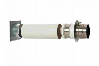 externer Luftanschluss Mauerdurchführung Doppelklappe 60mm Stutzen Bild 3