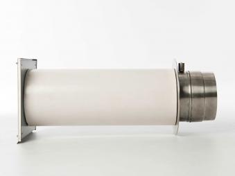 externer Luftanschluss Mauerdurchführung Doppelklappe 80mm Stutzen Bild 2