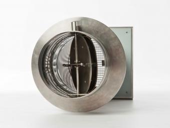 externer Luftanschluss Mauerdurchführung Doppelklappe 80mm Stutzen Bild 4
