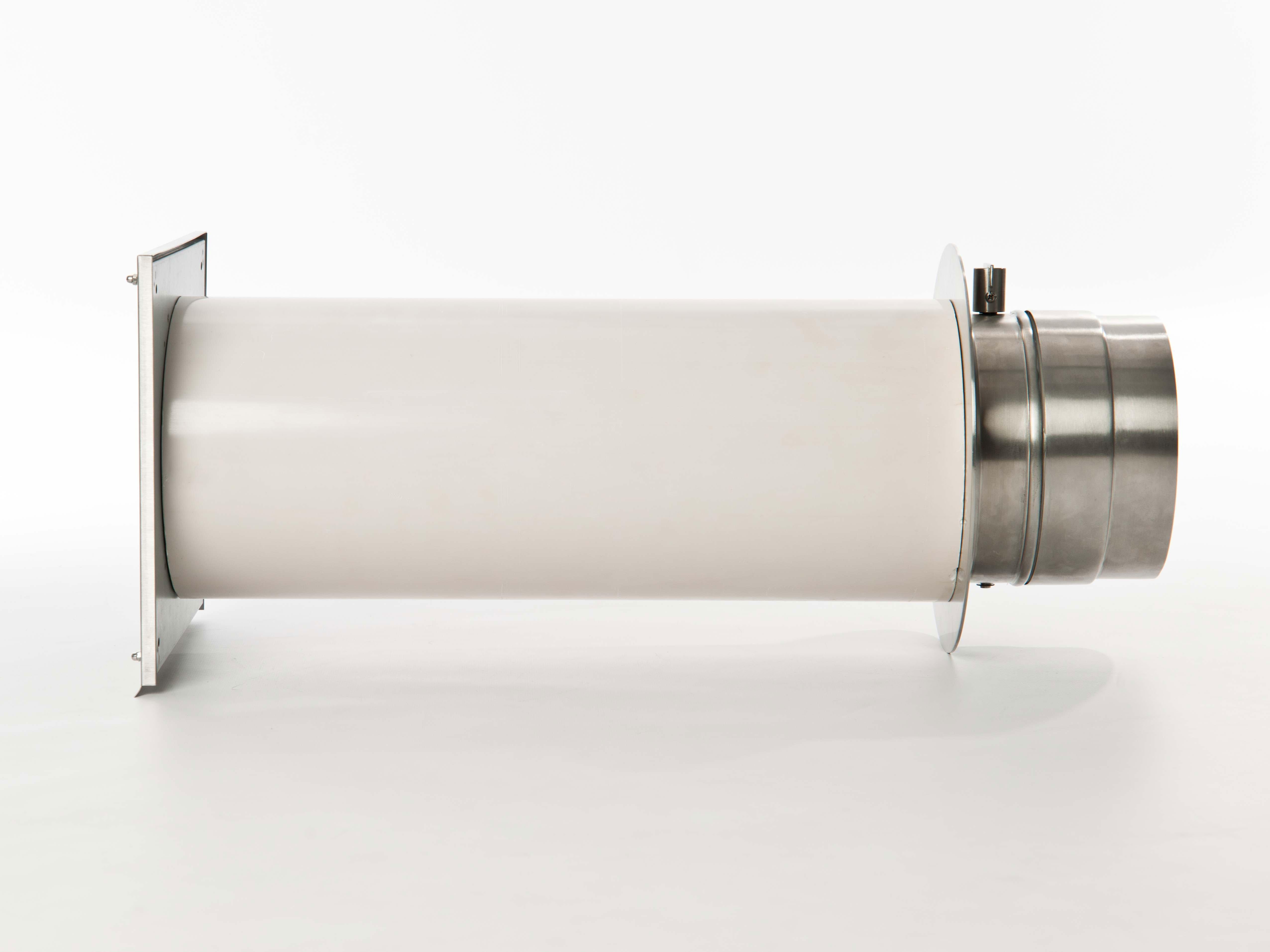 externer Luftanschluss Mauerdurchführung Einzelklappe 125mm Stutzen Bild 2