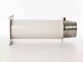 externer Luftanschluss Mauerdurchführung Einzelklappe 150mm Stutzen Bild 2