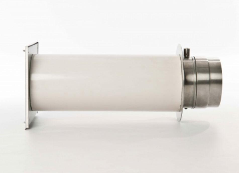 externer Luftanschluss Mauerdurchführung Einzelklappe 50mm Stutzen Bild 2