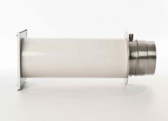 externer Luftanschluss Mauerdurchführung Einzelklappe 60mm Stutzen Bild 2
