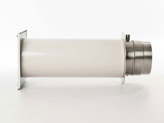 externer Luftanschluss Mauerdurchführung Einzelklappe 80mm Stutzen Bild 2