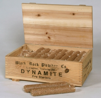 Feueranzünder / Ofenanzünder Lienbacher Dynamitstangen in Holzkiste Bild 1
