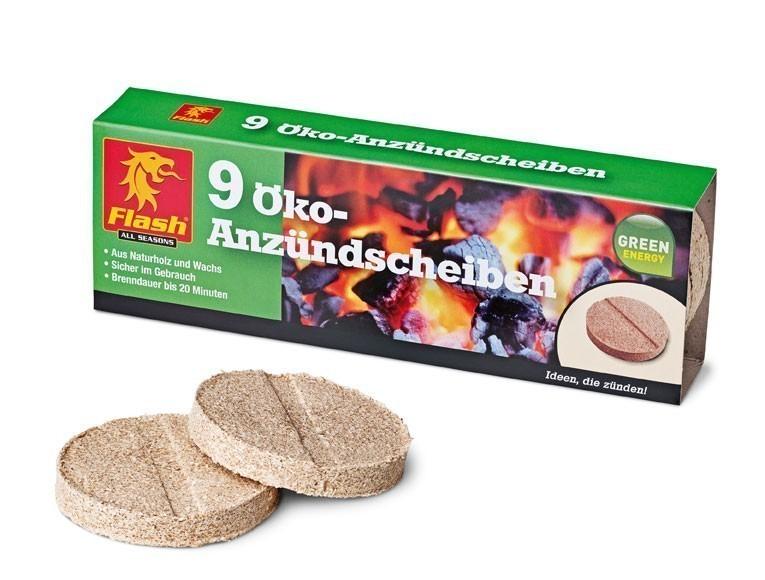 Grillanzünder / Kamin Anzünder Flash Holz & Wachs Platten 9Stück Bild 1