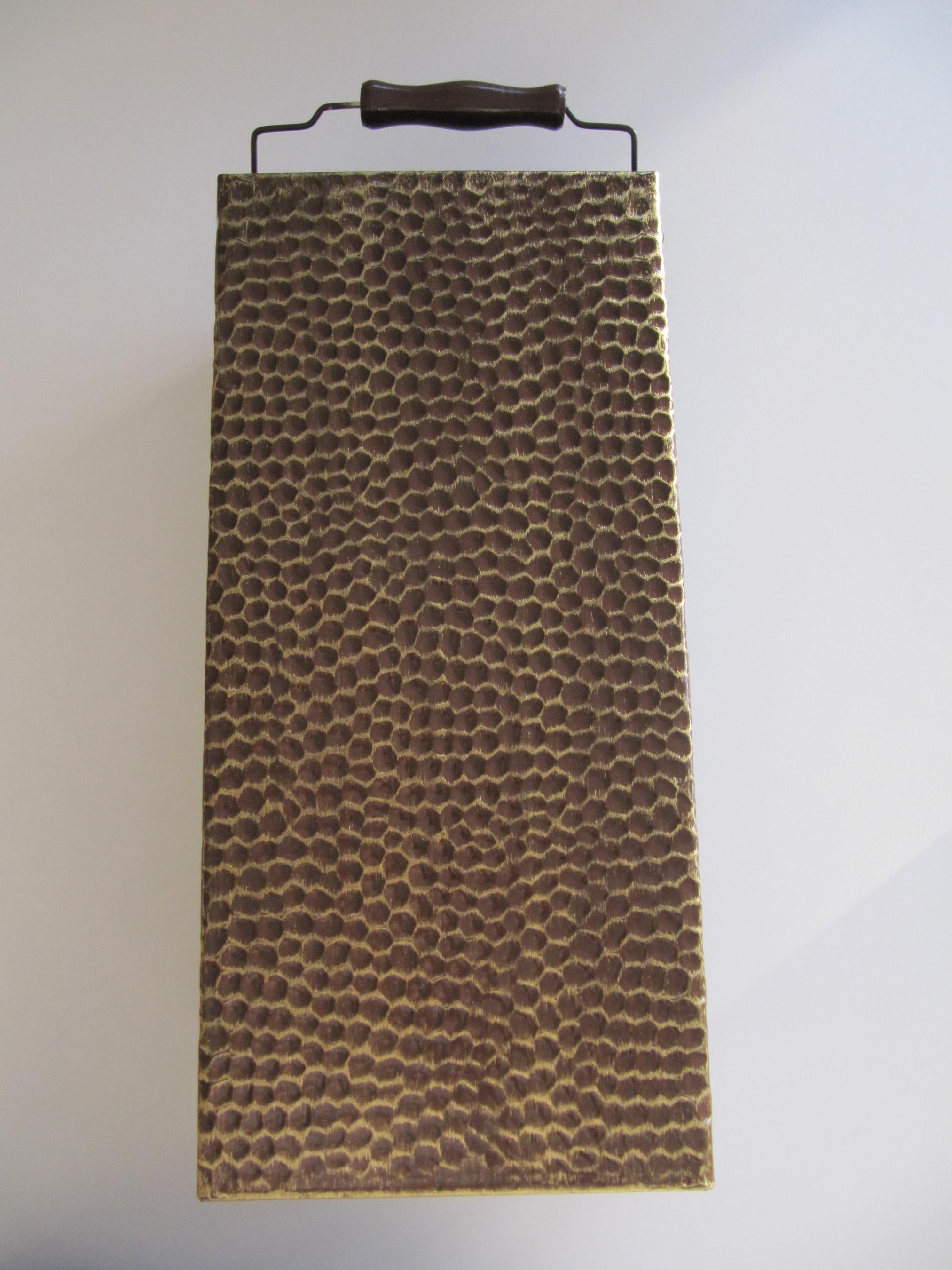 Brikettträger KaminoFlam altmessing Höhe 41,5cm Bild 2
