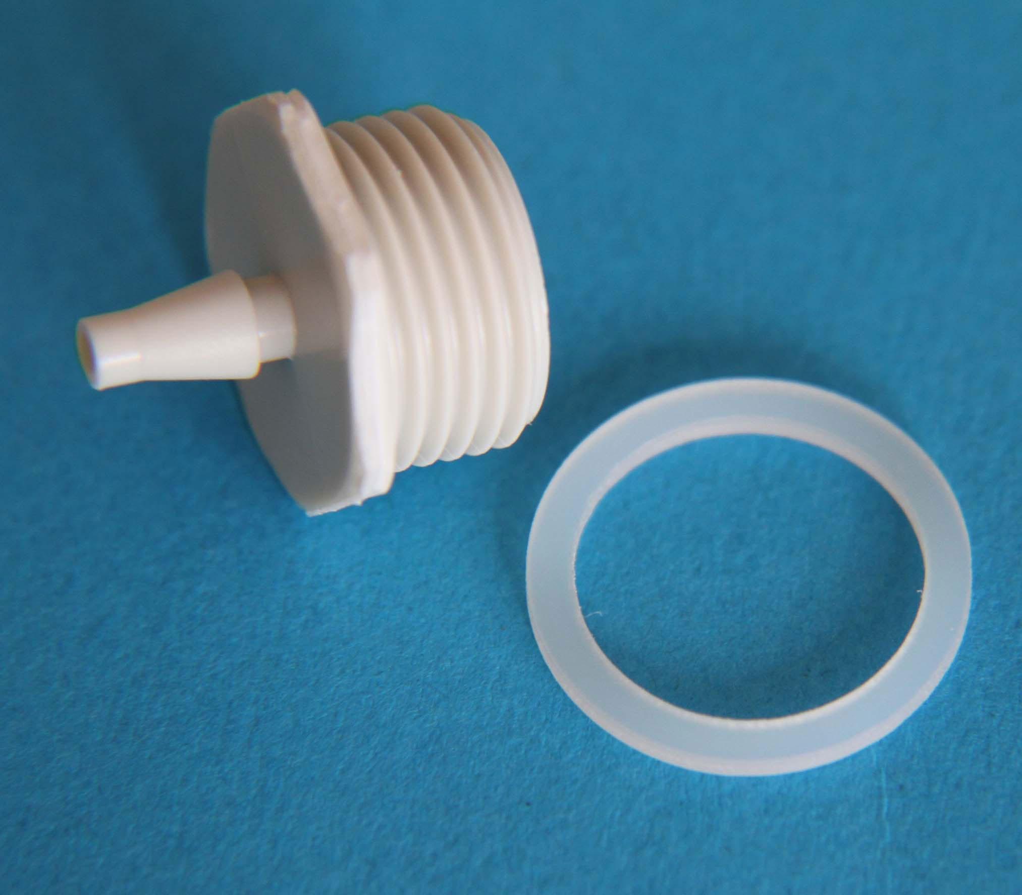 Luftanschlussnippel Luftdruckwächter P4 mit Dichtring (2 Stück) Bild 1