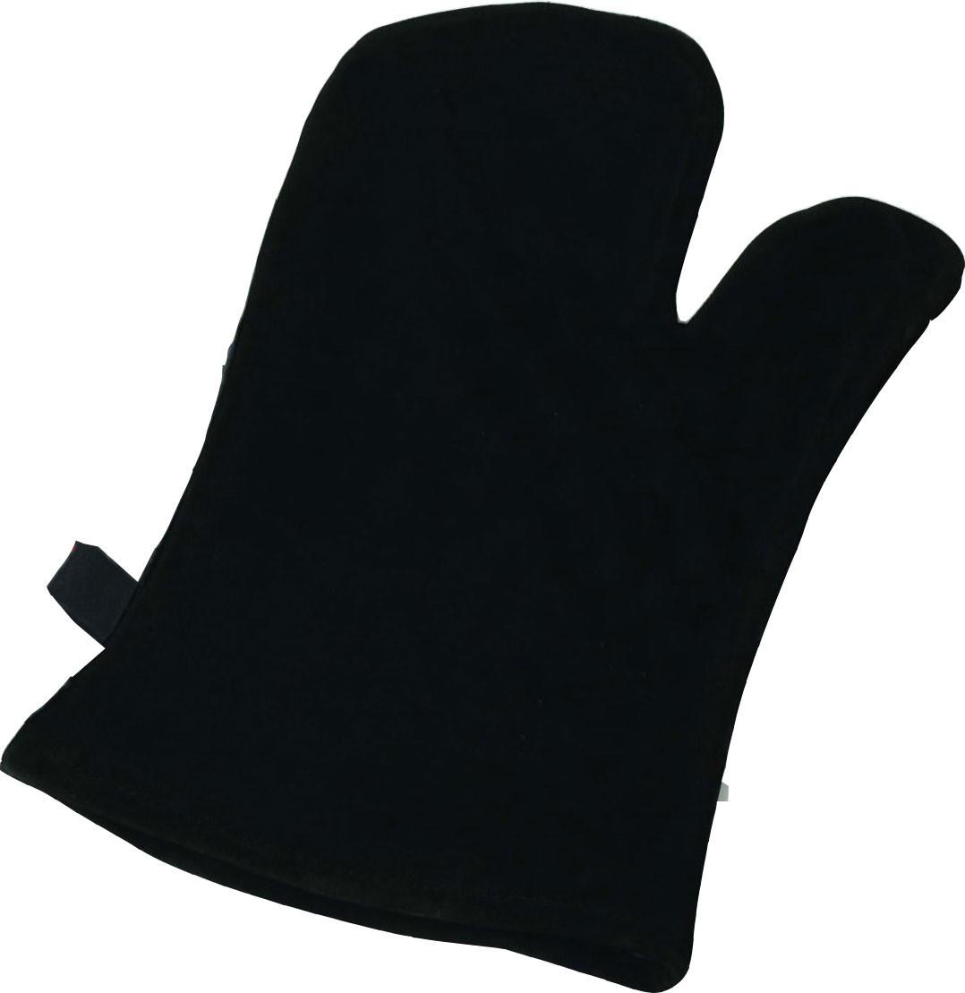 Ofenhandschuh Hark aus schwarzem Wildleder Bild 1