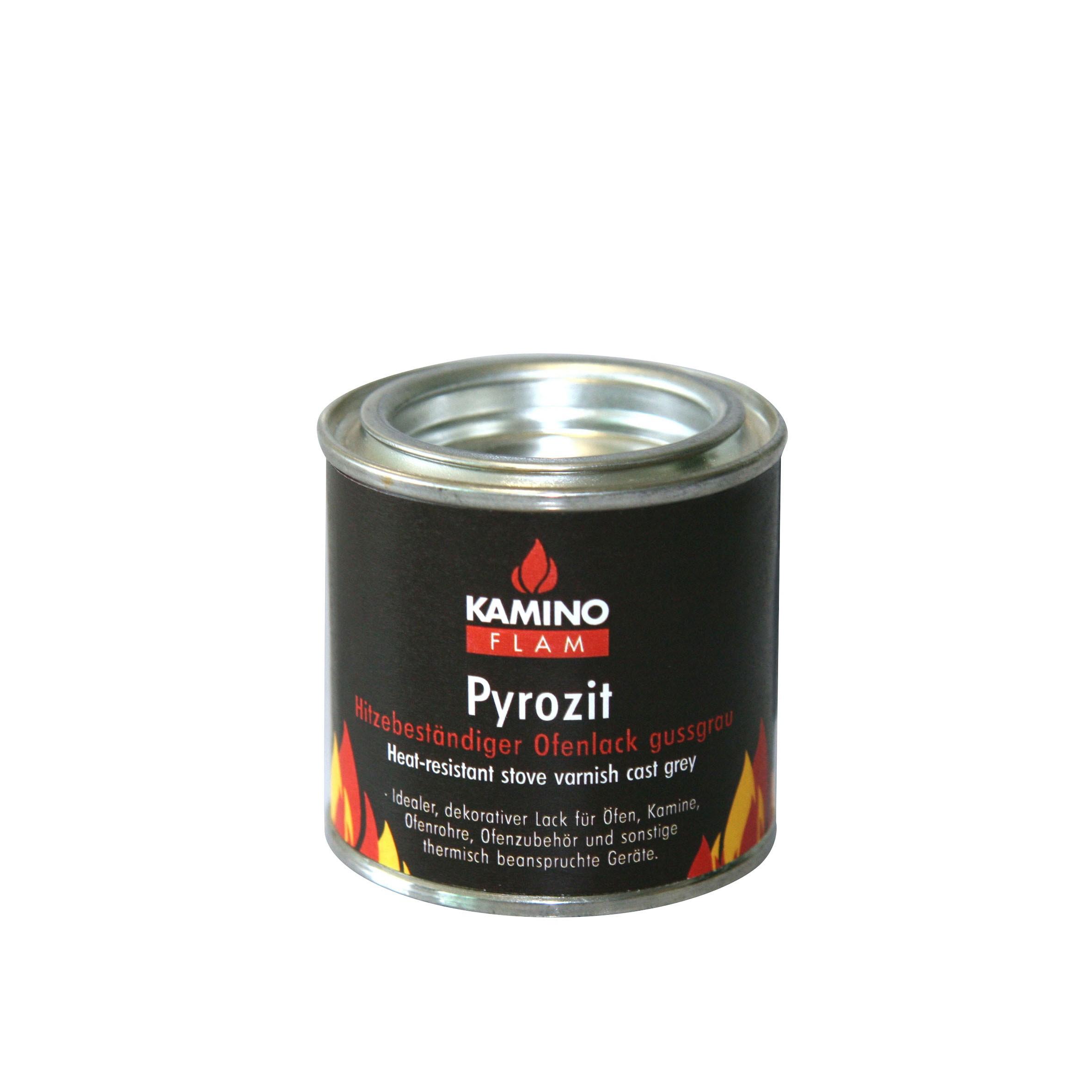 Ofenlack Pyrozit KaminoFlam hitzebeständig gussgrau matt 125g Bild 1