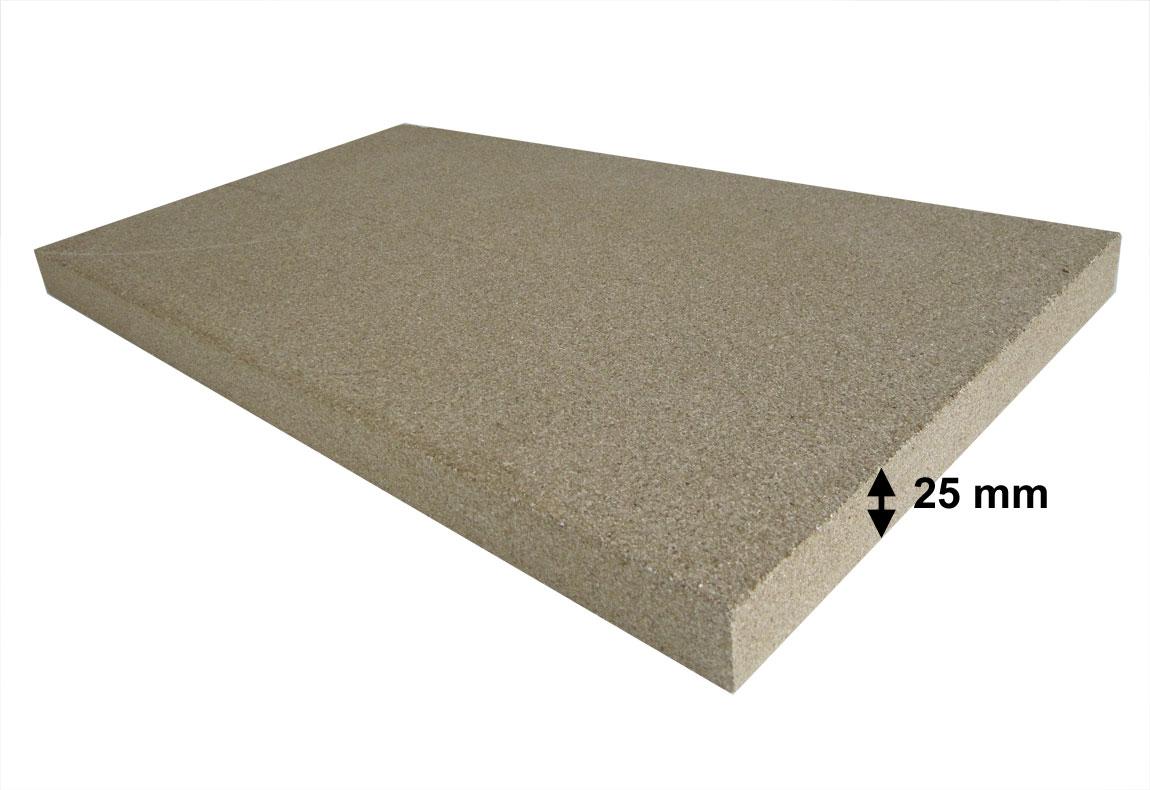 Vermiculite Platte 1 Stück 500x300x25 mm Bild 1