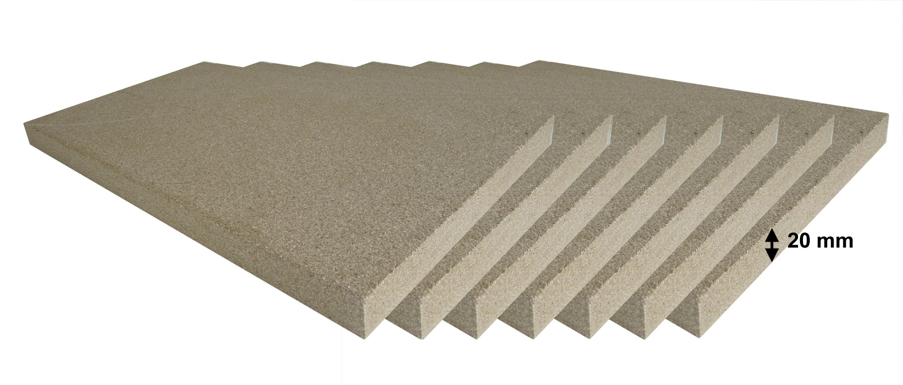 Vermiculite Platten Reparatur Set 7 Stück 500x300x20 mm Bild 1