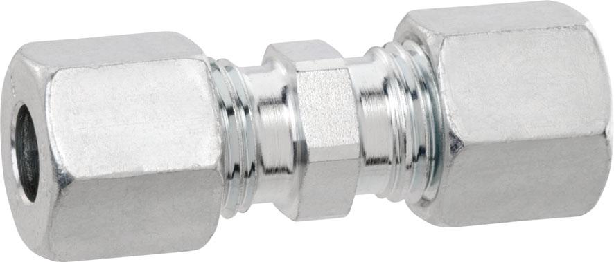 Verschraubung gerade Typ G mit Stahl-Schneidring 8x8mm für ZÖV-Anlagen Bild 1