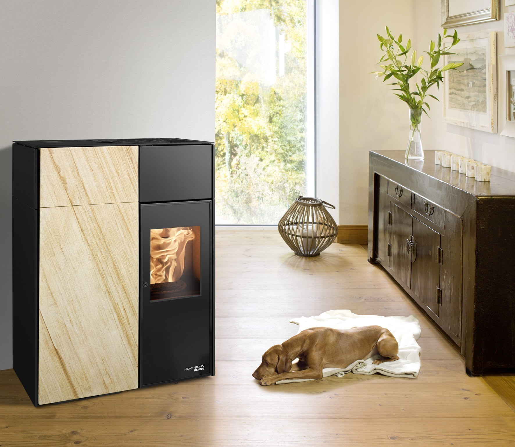 pelletofen haas sohn catania ii rlu schwarz sandstein 8kw bei. Black Bedroom Furniture Sets. Home Design Ideas