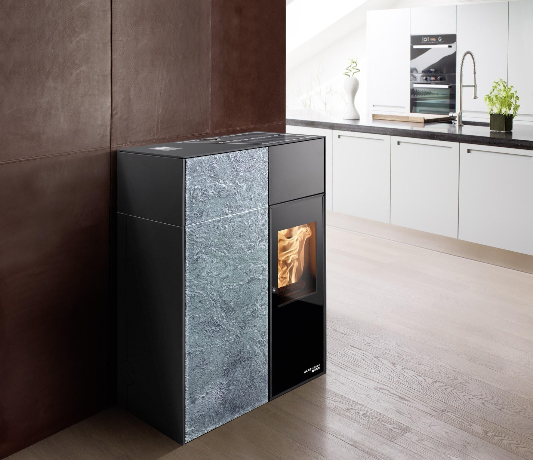 pelletofen haas sohn catania ii rlu schwarz speckstein 8kw bei. Black Bedroom Furniture Sets. Home Design Ideas