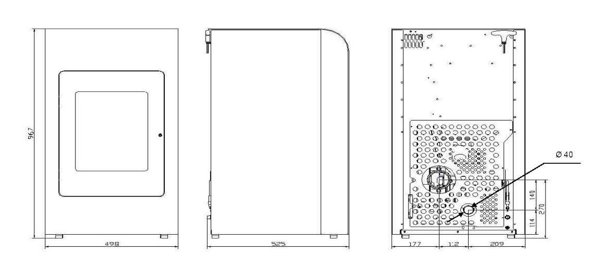 Pelletofen Haas+Sohn HSP 2.17 Home-II perl grau/schwarz 8kW raumluftun Bild 2
