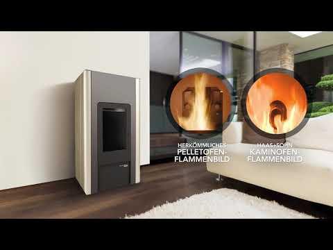 Pelletofen Haas+Sohn HSP 2.17 Home-II perl grau/schwarz 8kW raumluftun Video Screenshot 2151