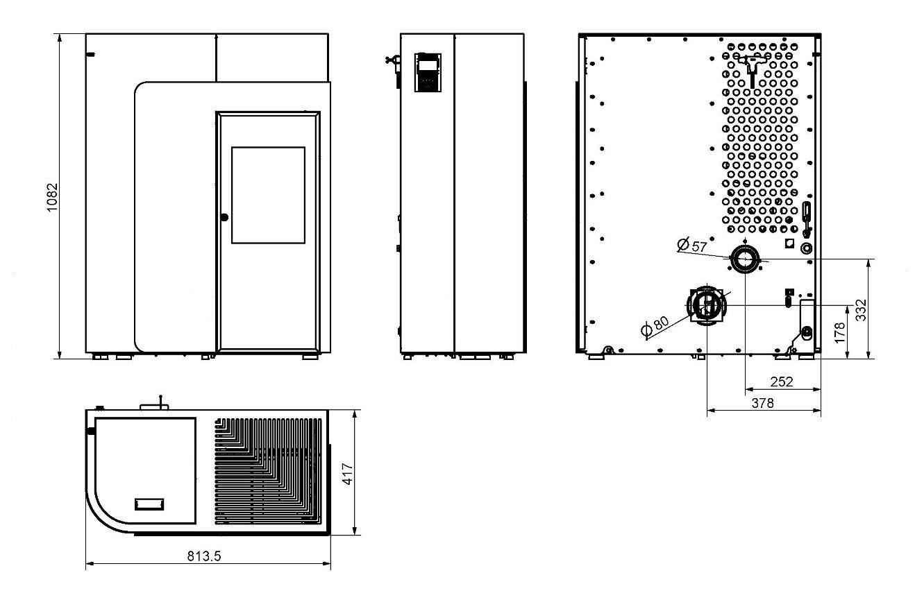pelletofen haas sohn hsp 8 home perl schwarz grau 8kw bei. Black Bedroom Furniture Sets. Home Design Ideas