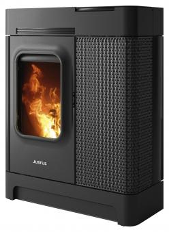 Pelletofen Justus Canis XL Stahl schwarz 8 kW Bild 2