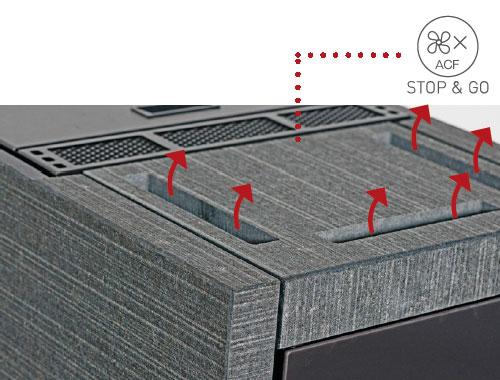 Pelletofen monolith extra Keramik Iron Grey satin 8 kW DIBt Bild 5