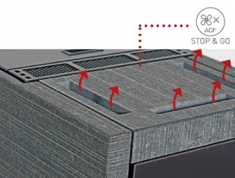 Pelletofen monolith extra Naturstein Marrone Latina seta 8 kW DIBt Bild 5