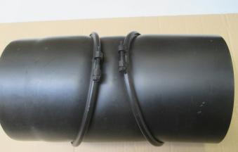 B-Ware Ofenrohr Bogenknie 3tlg verstellbar 0-90° Ø200mm schwarz m. Tür Bild 4