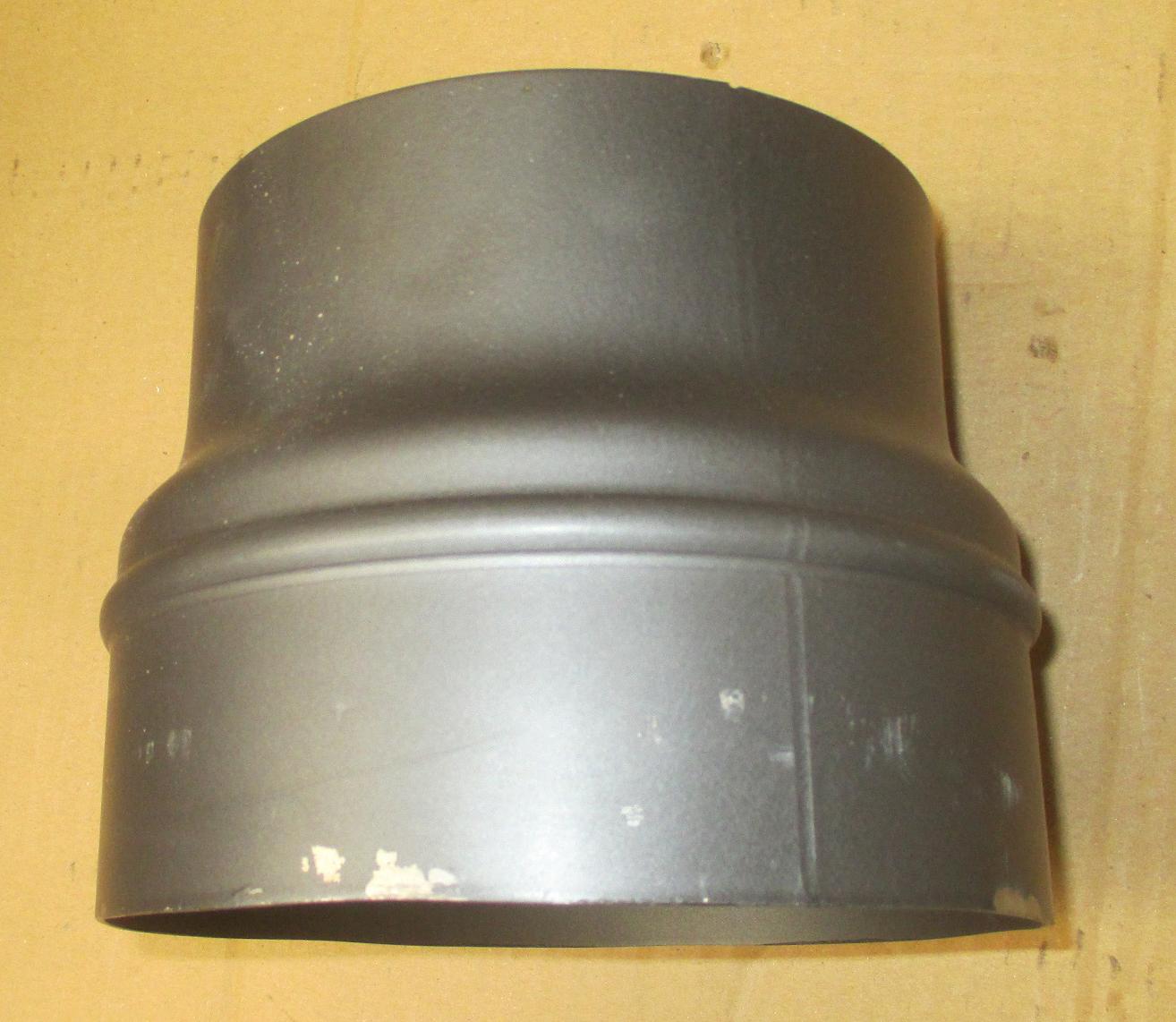 B-Ware Ofenrohr Reduzierung 150 weit auf 180eng grau Bild 3