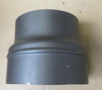 B-Ware Ofenrohr Reduzierung 150 weit auf 180eng grau Bild 4