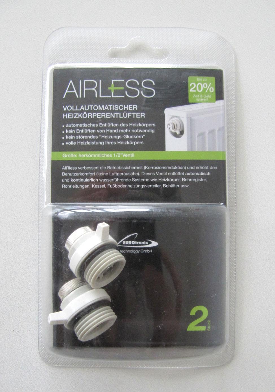 "Heizkörperentlüfter Airless vollautomatisch 1/2""Ventil 2-er Pack Bild 1"
