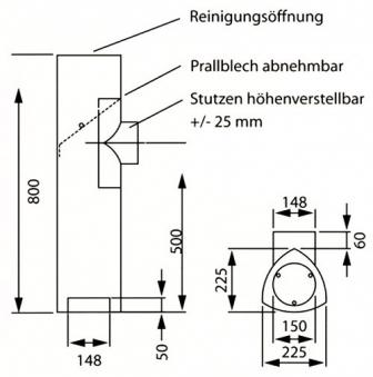 Universal Rohrset 3 Ø 150 grau Bild 1