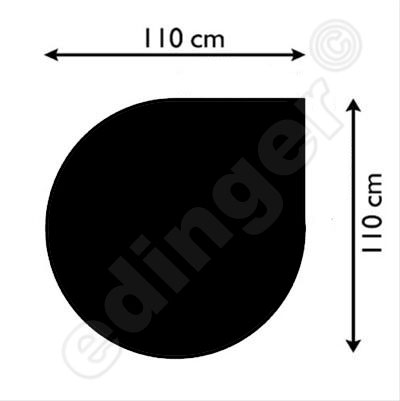 B-Ware Funkenschutzplatte Stahlblech schwarz 110x110cm Tropfen Bild 1