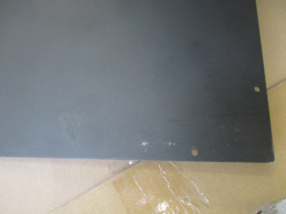 B-Ware Funkenschutzplatte Stahlblech schwarz 110x110cm Tropfen Bild 3