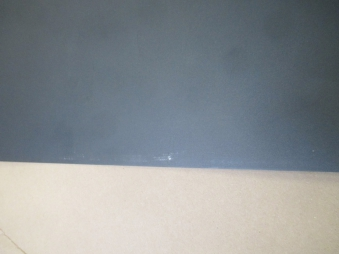 B-Ware Funkenschutzplatte Stahlblech schwarz 110x110cm Tropfen Bild 4