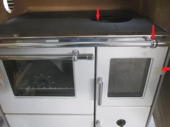 B-Ware Küchenherd  Wamsler K176 F/A 70cm weiß Stahl Ans. links Bild 4
