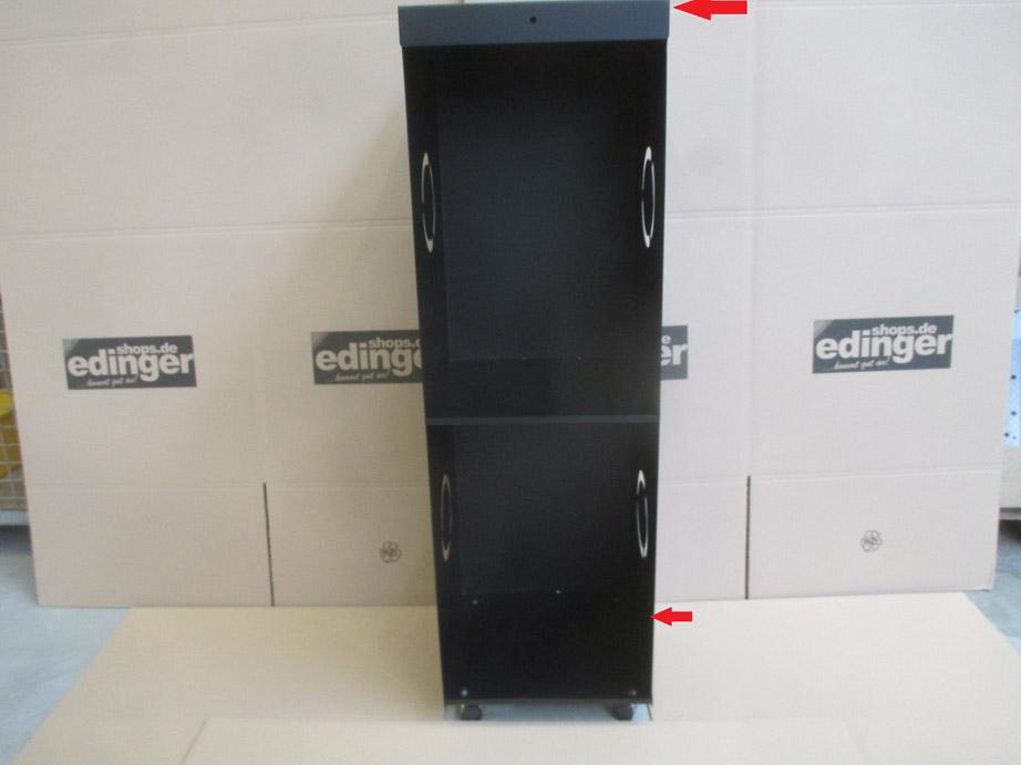 B-Ware Kaminholzregal Lienbacher fahrb. schwarz 39x39x126cm Bild 2