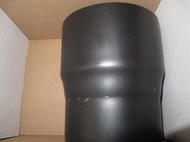 B-Ware Ofenrohr Reduzierung 130weit auf 120eng schwarz Bild 3