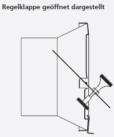 B-Ware Zugbegrenzer Z6 Edelstahl mit rundem Anschlussstutzen Ø180mm Bild 2