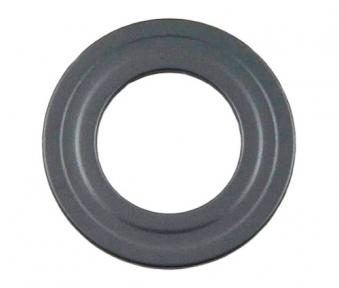 Ofenrohr / Rauchrohr Rosette für Pelletofenrohr grau Ø 80 mm Bild 1