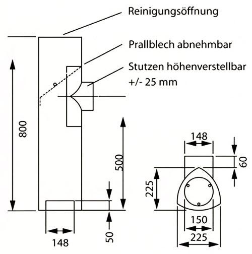 Ofenrohr / Rauchrohr Universal Rohrset3 Ø150mm Senotherm schwarz Bild 1