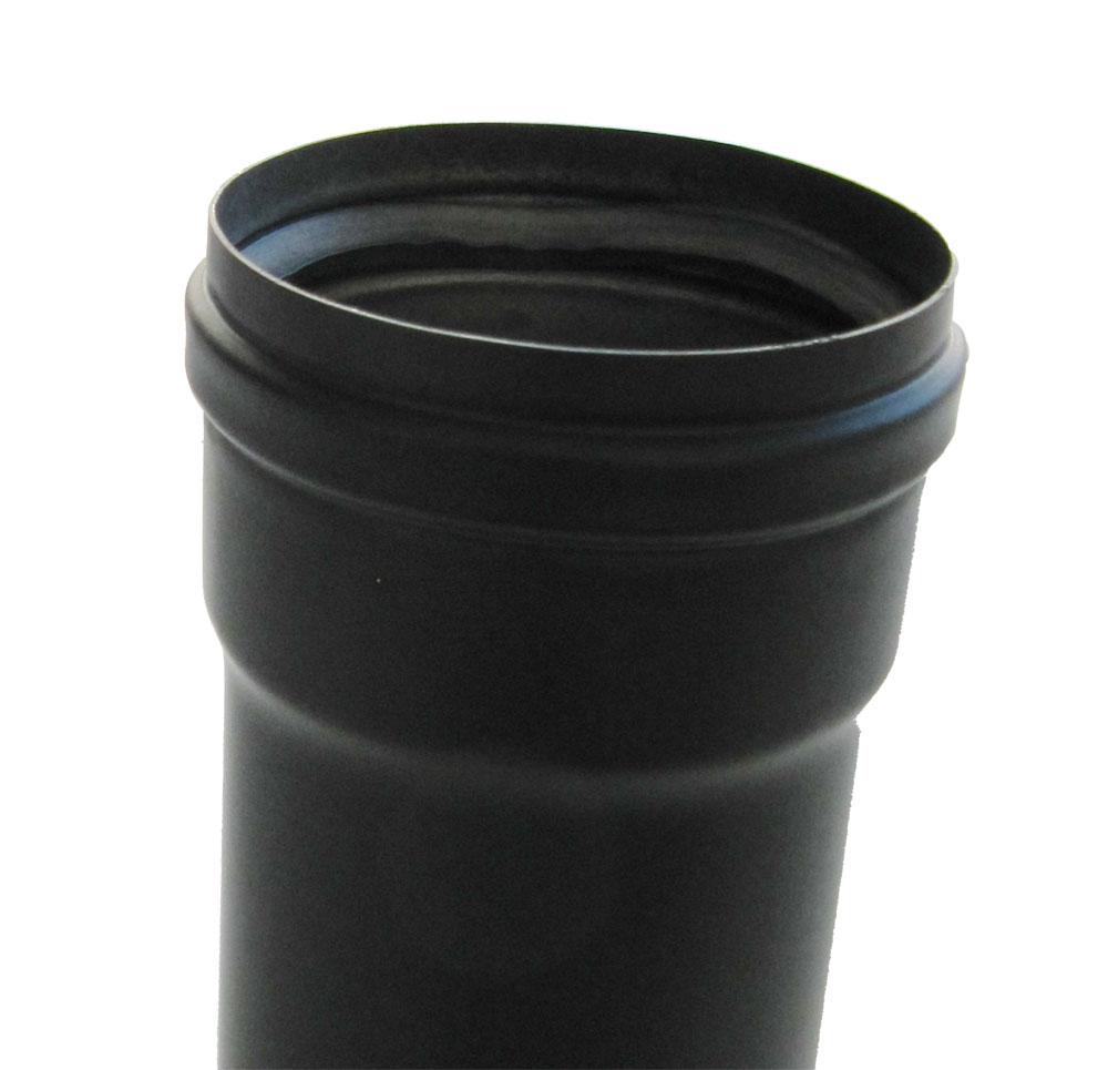 Ofenrohr / Rauchrohr für Pelletofen Bogen 45° Ø 100 mm ohne Tür grau Bild 3