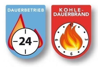 Dauerbrandofen / Kohleofen Haas+Sohn Velten 136.12 majolika-braun Bild 2