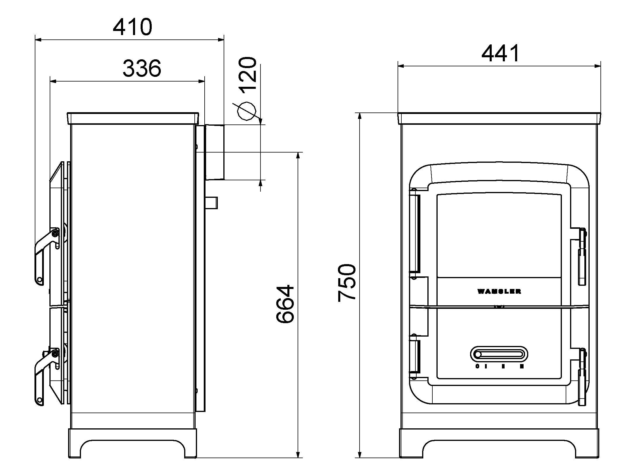 kaminofen wamsler raumheizer rh 6f kaschmir 6kw mit. Black Bedroom Furniture Sets. Home Design Ideas