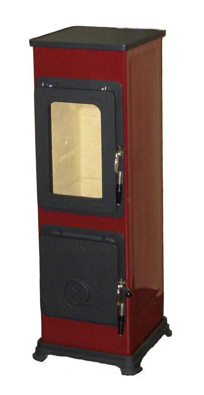 Kaminofen / Werkstattofen Thorma Bozen Stahl rot emailliert 5kW Bild 1