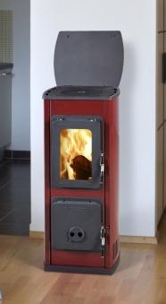 Kaminofen / Werkstattofen Thorma Milano II Stahl rot emailliert 5kW Bild 1